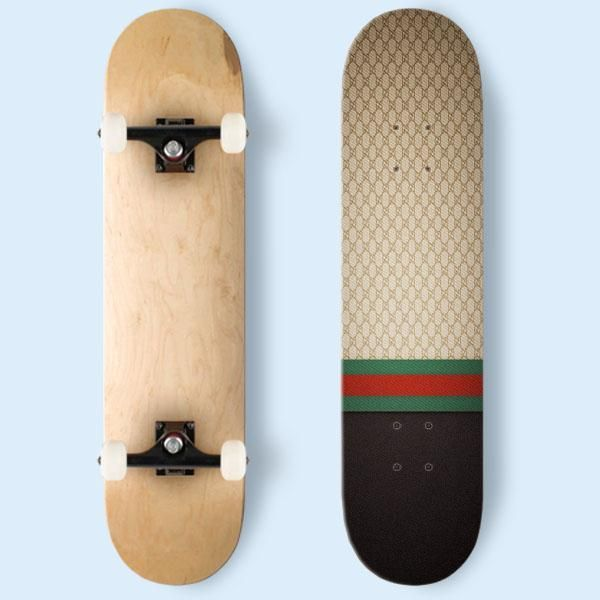 7e838fea902 Gucci Designer Label Patterns Wall Skateboard
