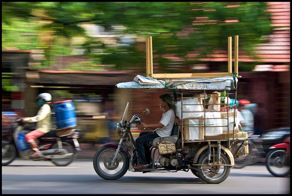 Street action in Hanoi, Vietnam