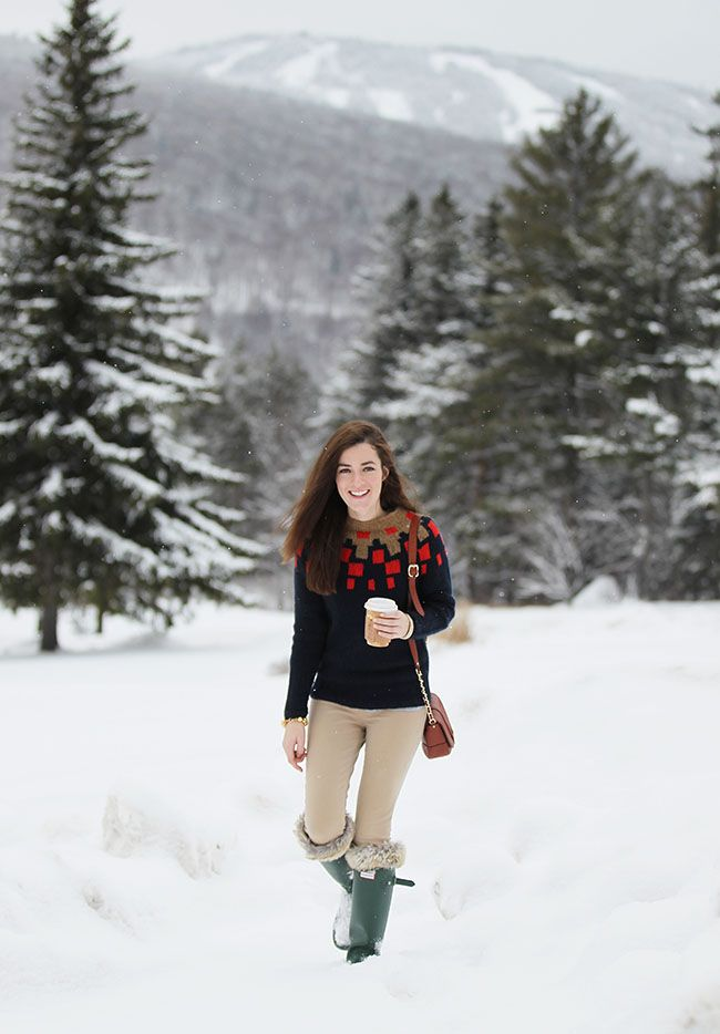 Classy Girls Wear Pearls | Sweater: J. Crew Pants: J. Crew Boots ...