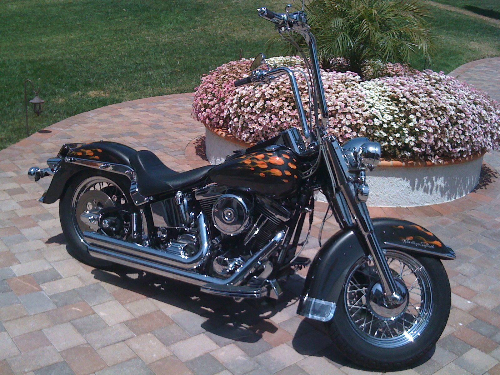 My 1998 Harley Heritage Softail Classic Custom Paint And Lots Of Chrome Softail Custom Paint Harley [ 1200 x 1600 Pixel ]