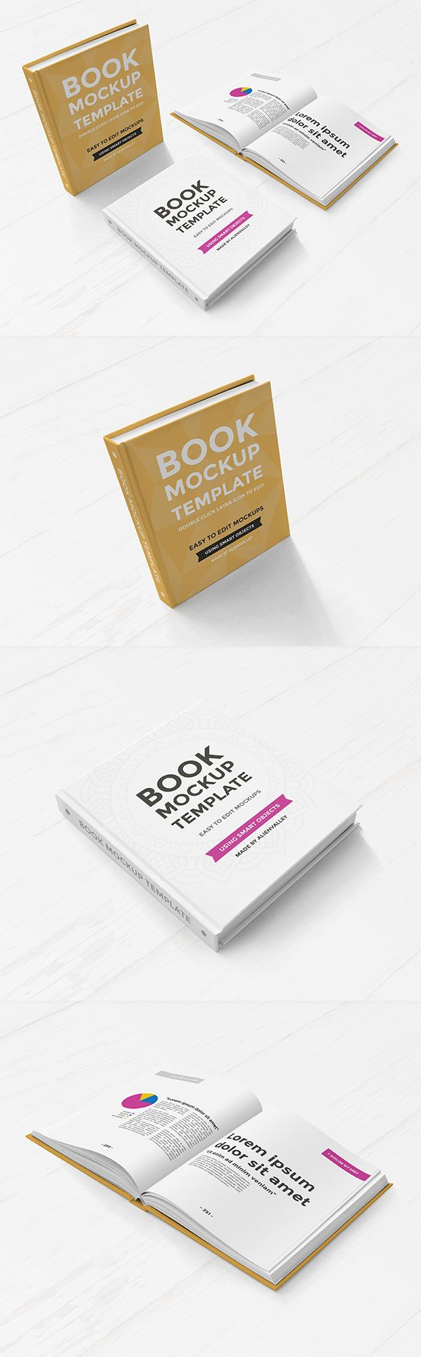 Free Hardcover Book Mockup Set | Alien Valley | #free #photoshop ...