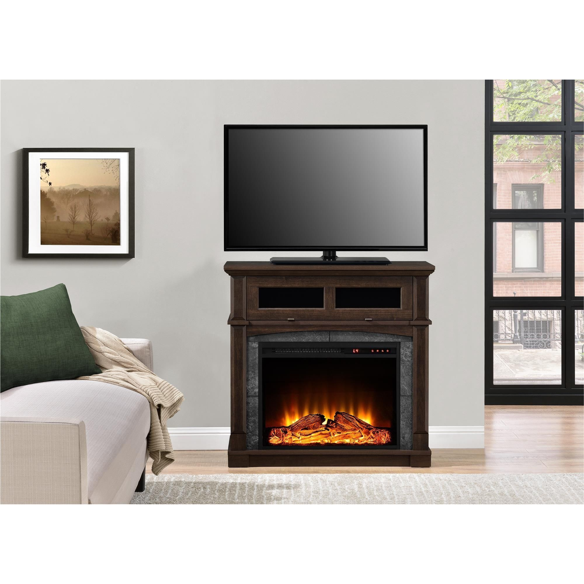 Altra thompson place electric fireplace inch tv stand electric