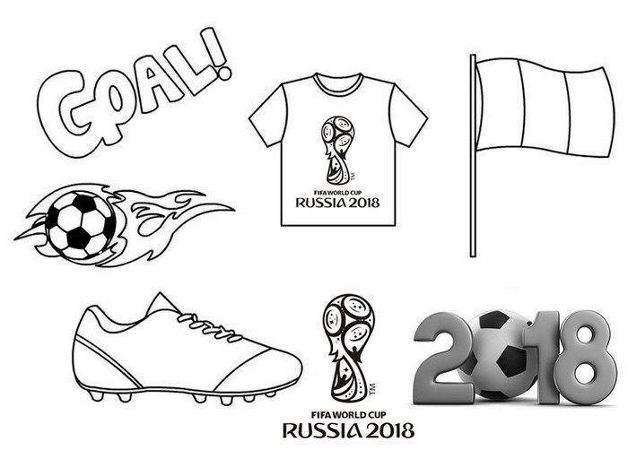World Cup Equipments Coloring Page | Best FIFA Coloring Pages for ...