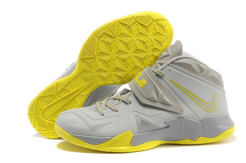 Buy Nike Zoom Lebron James Soldier 7 Pure Platinum Wolf Grey Sonic Yellow  New Arrival from Reliable Nike Zoom Lebron James Soldier 7 Pure Platinum  Wolf Grey ...