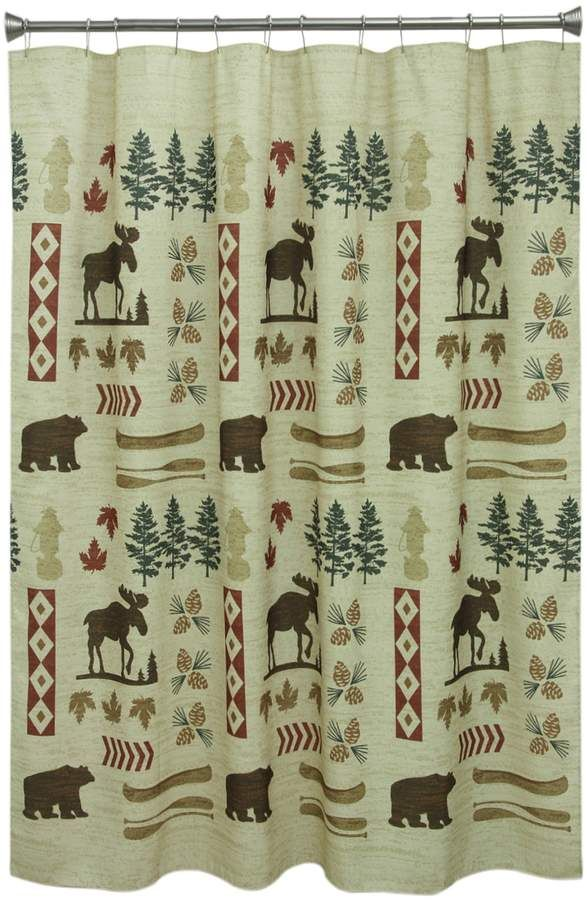 Bacova North Ridge Shower Curtain Country Shower Curtain Rustic