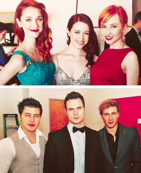 The leading ladies and their men. Lizzie Bennet Diaries
