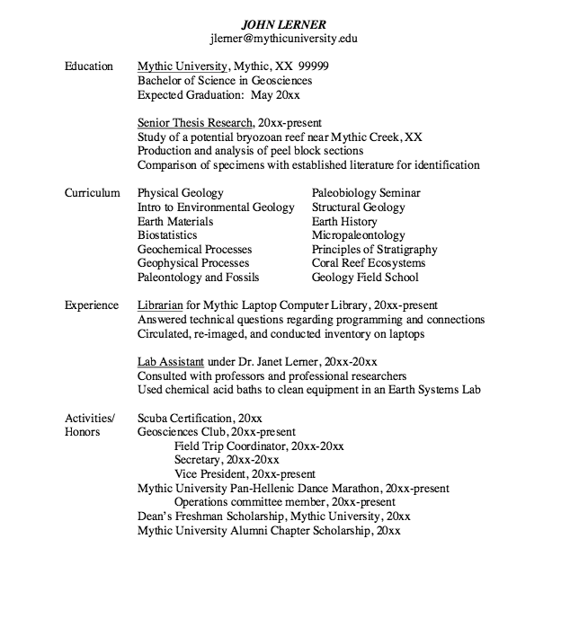Example Of Graduate Applicantion Resume Free Resume Sample Resume Template Examples Resume Design Template Sample Resume Templates