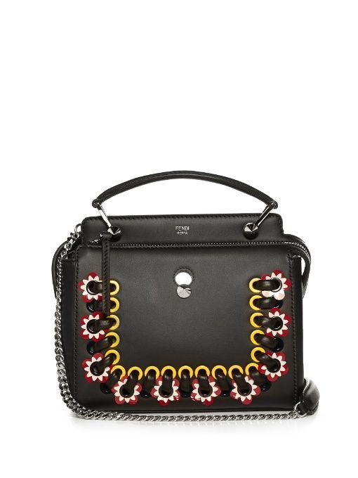 434c000a2998 Fendi Dotcom Click whipstitch leather cross-body bag