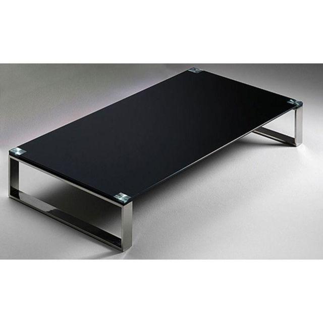 inside 75 table basse miami en verre noir - Inside75 Table Basse