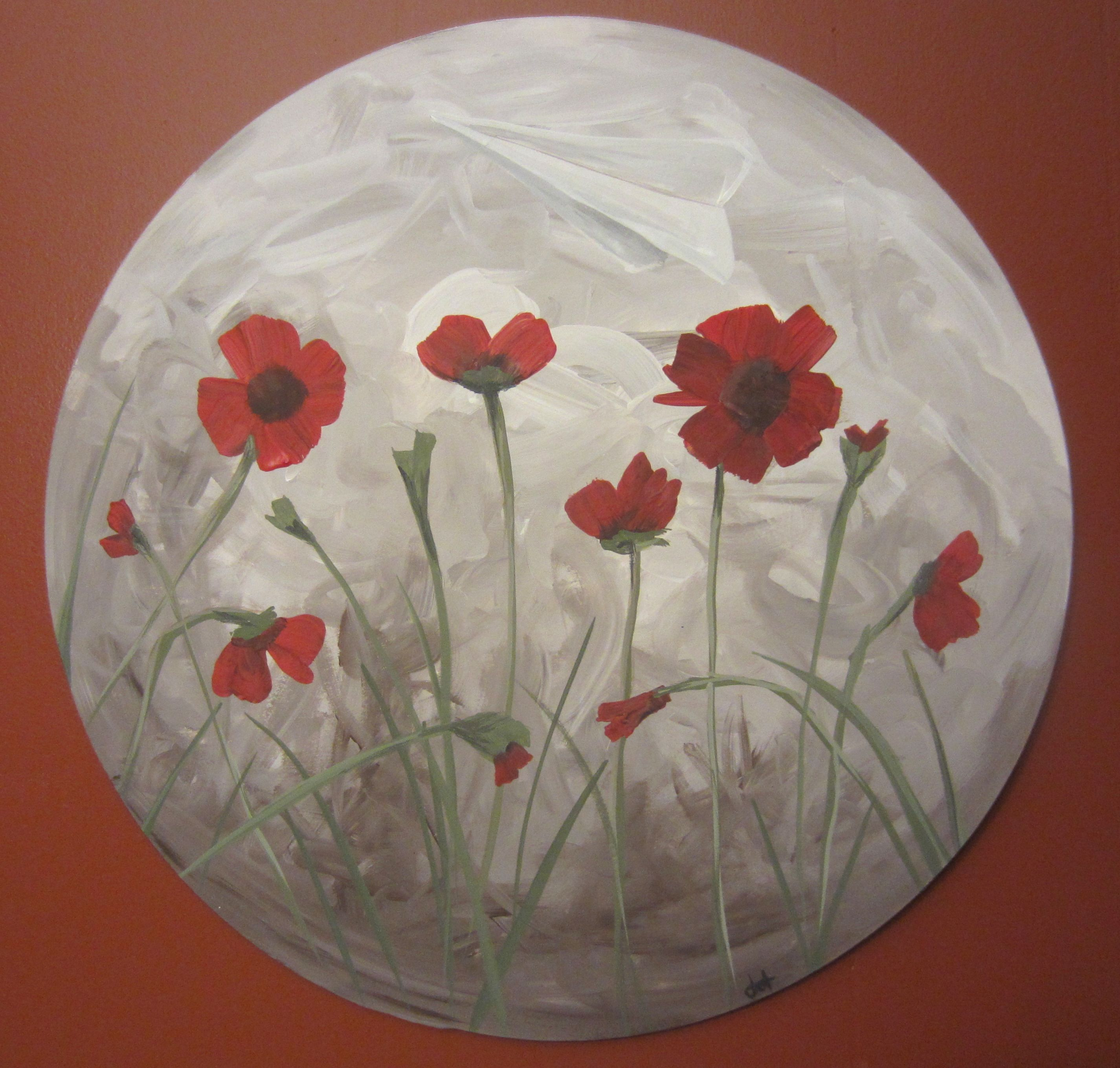 How to Paint Poppies (Part One- The Background)