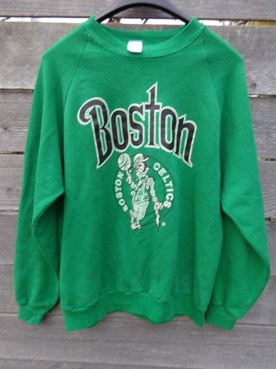 detailed look 5ff50 36884 Vintage 80's Boston Celtics sweatshirt pullover by ...