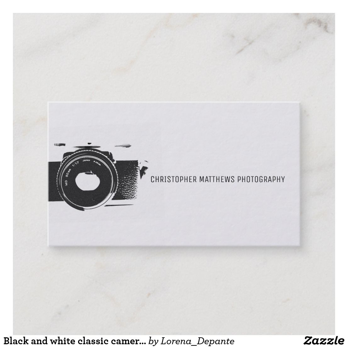 Classic Camera Artistic Black White Photographer Business Card Zazzle Com In 2021 Photographer Business Cards Photographer Business Card Design Photography Business Cards Template