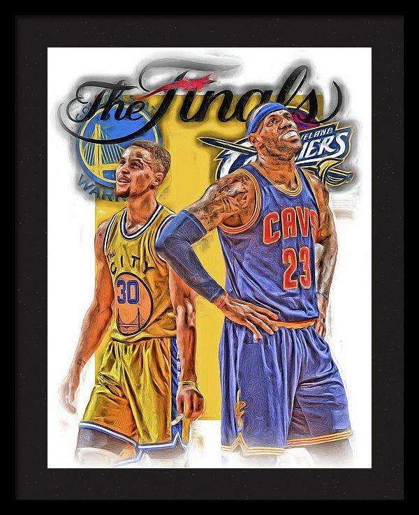 Lebron James Stephen Curry The Finals Framed Print by Joe Hamilton ...