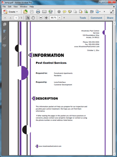 Pest Control Information Packet Sample  Create Your Own Custom