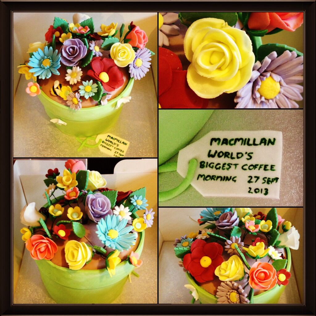 My improved cake flower pot ) it was for a macmillan