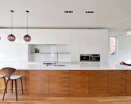 Image result for kitchens wooden and white modern