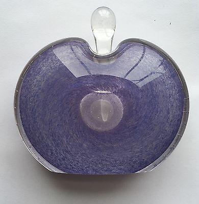 Artist Signed Nourot Art Glass Perfume Lavender Perfume Bottle And Applicator