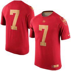 02f3b0e7b Men s Nike Colin Kaepernick Scarlet San Francisco 49ers New Day Name    Number Dri-FIT T-Shirt