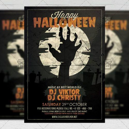 Seasonal A5 Flyer Template Happy Halloween Celebration Halloween