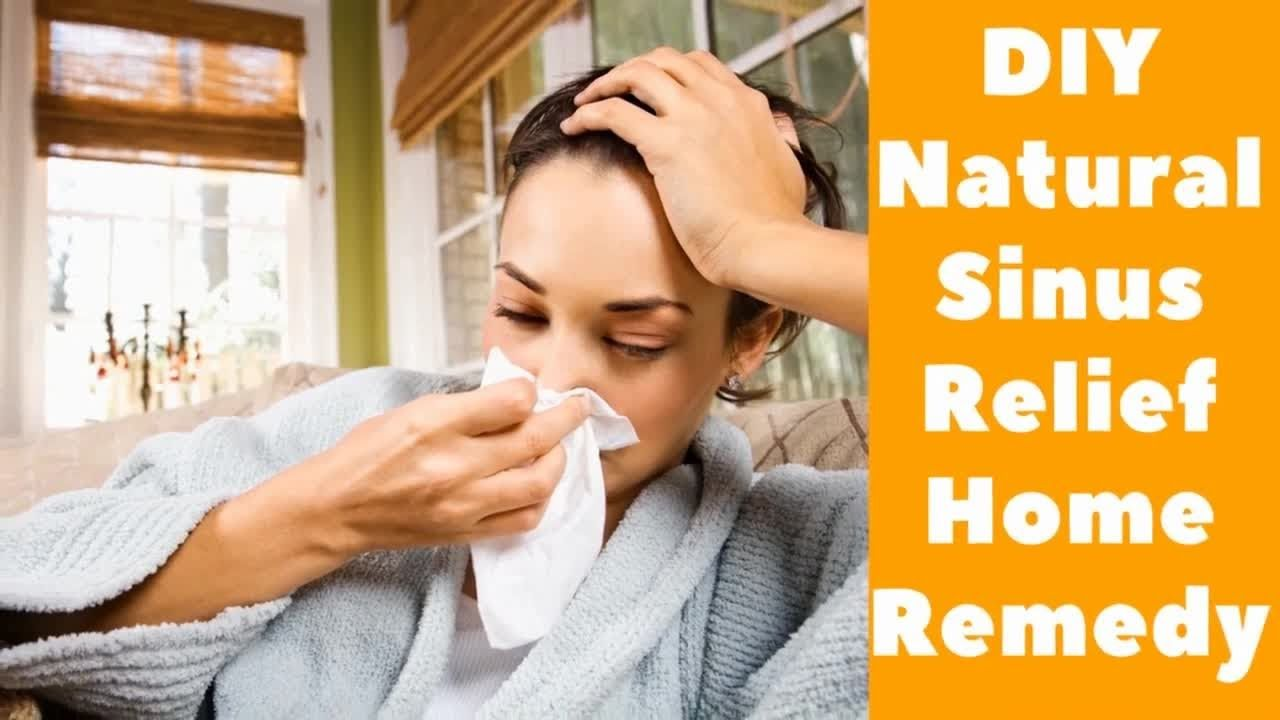 DIY Natural Sinus Relief Home Remedy   Natural Sinus Relief