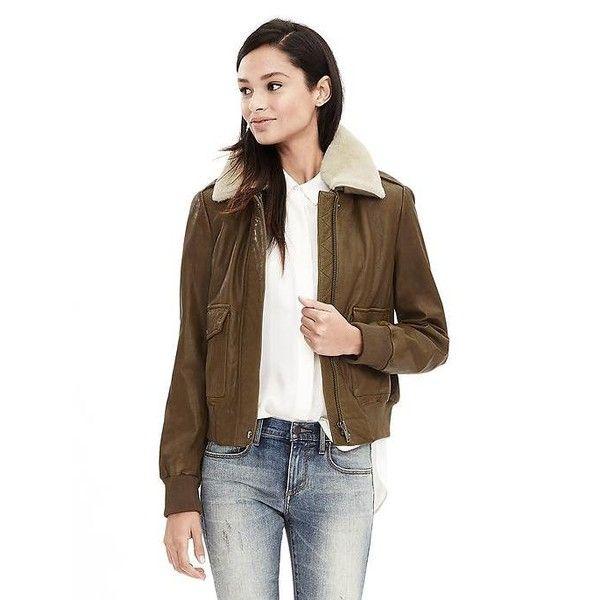 cafad7b67 Banana Republic Womens Heritage Leather Bomber Jacket (705 NZD ...