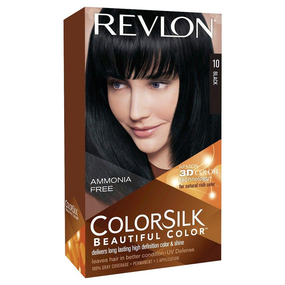 Revlon Colorsilk Hair Color Black 1 Kit