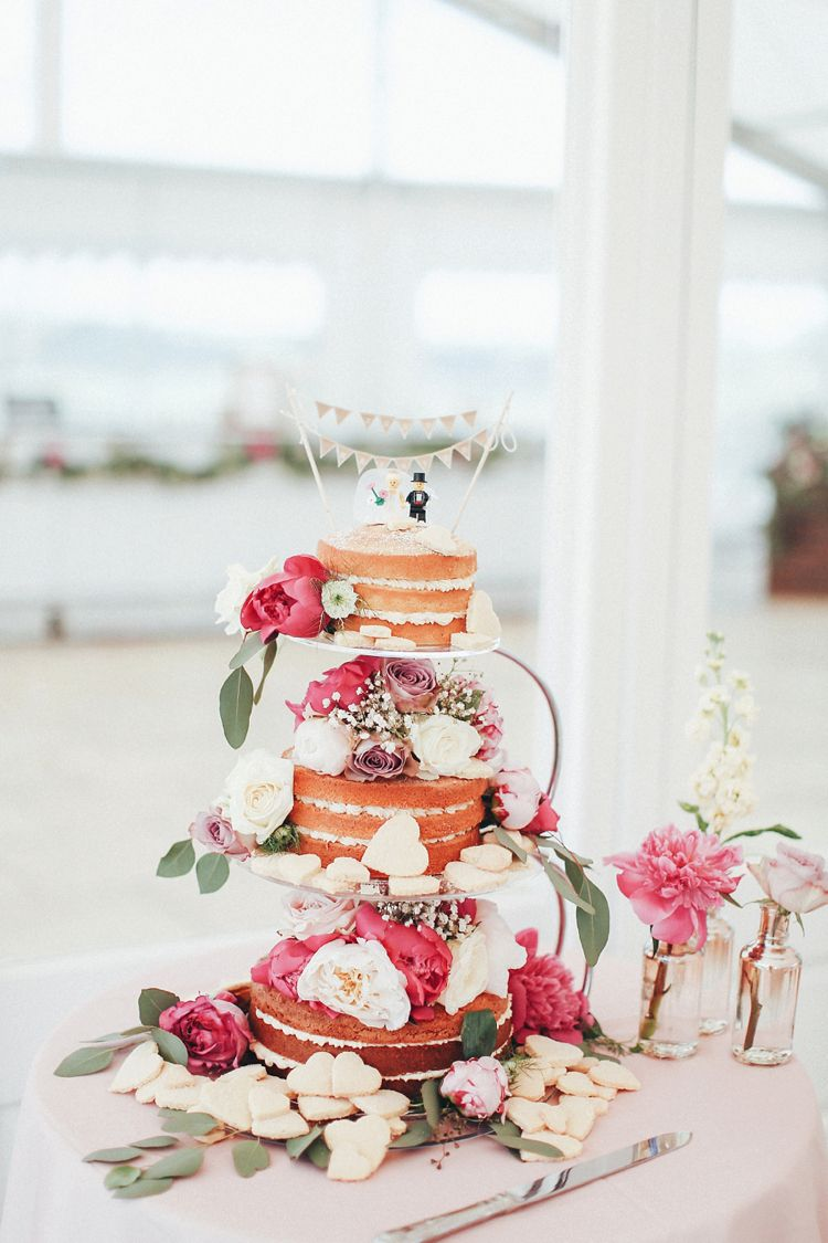Beautiful Pink Gold Wedding With A Gin Flavour Lego CakeFlower