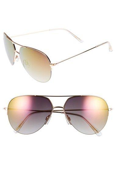 014b8ef331298 Rose Gold Steve Madden Semi Rimless Mirrored Aviator Sunglasses  Nordstrom   nordstrom