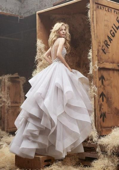 Ball Gown Organza and Lace Wedding Dress Wedding Party Dress Bridal Gown