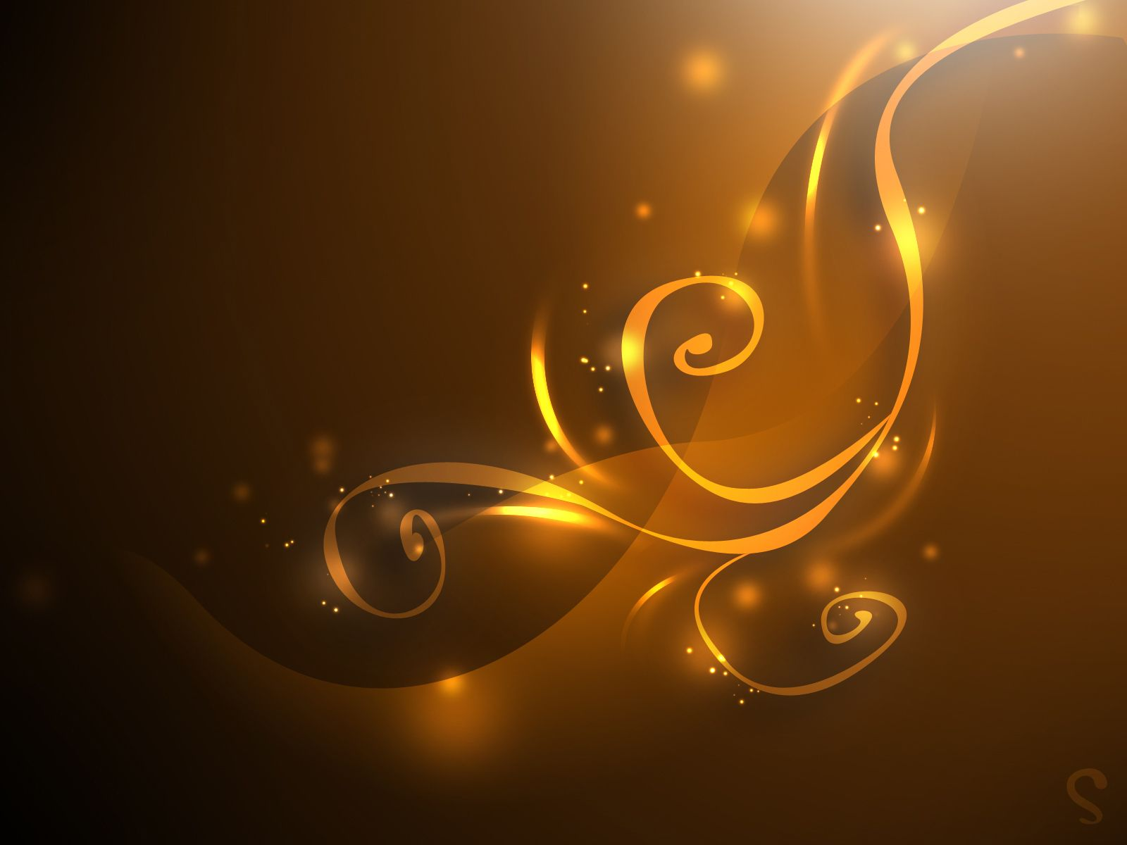 Gold color gold curves ppt backgrounds for powerpoint for 3d wallpaper gold