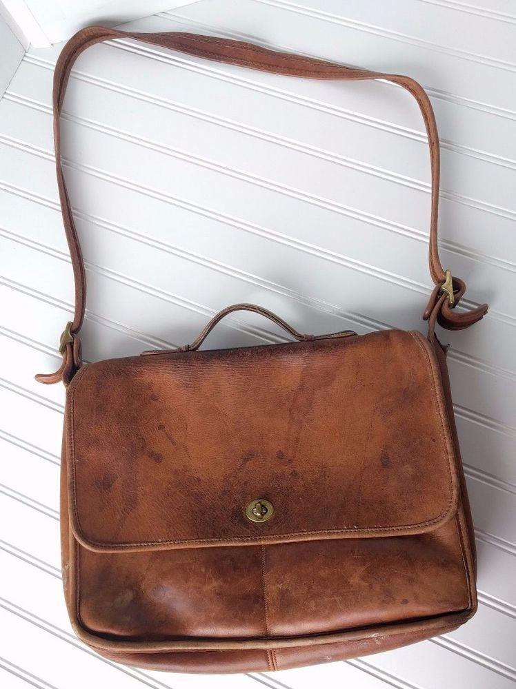 Vintage Coach Briefcase Messenger Bag 041 1105 Made In Usa Brown Project Messengershoulderbag