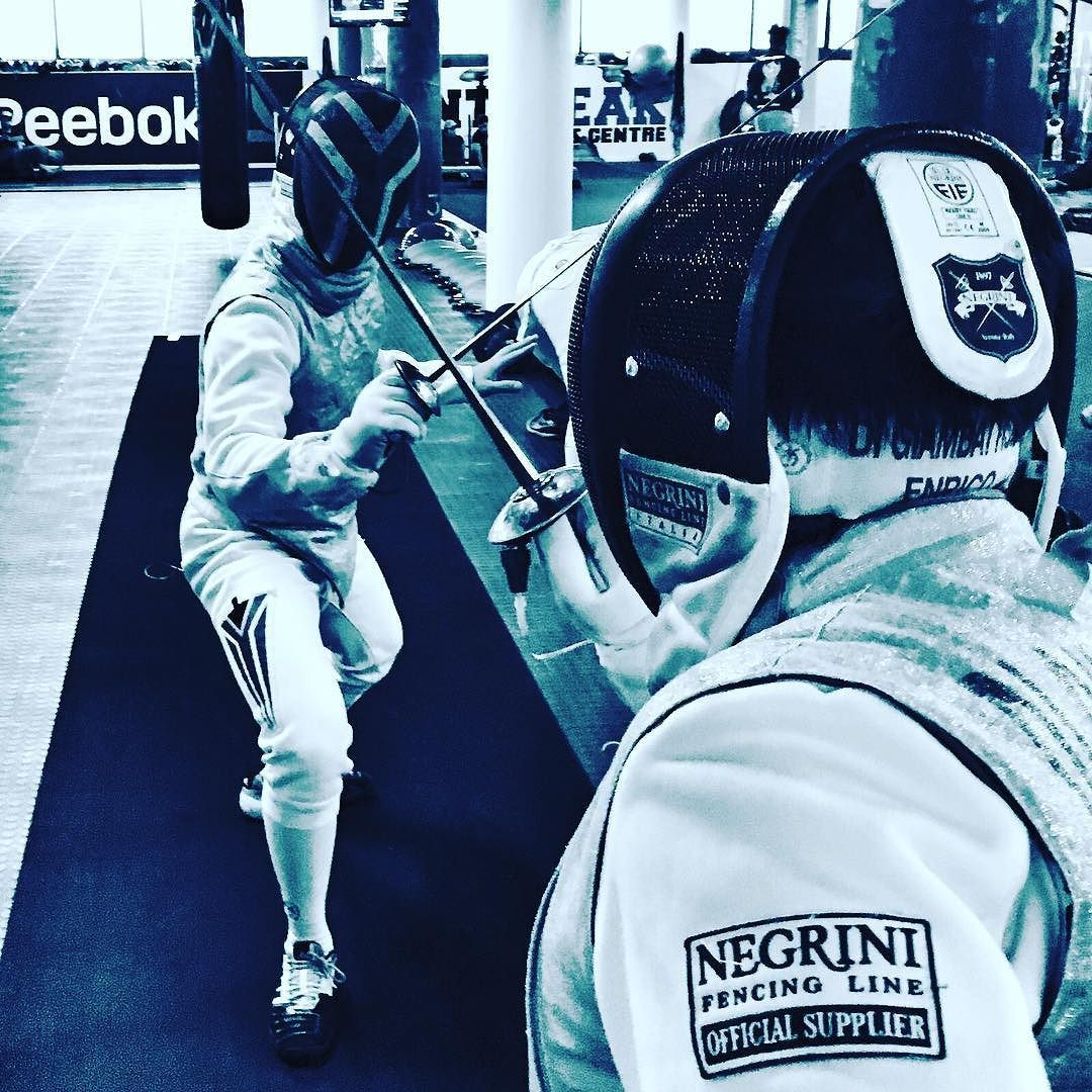 It started #Fencing @capetown_fight_club by fightclubsa