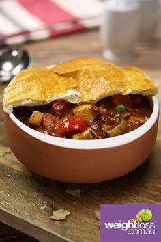Chicken Chorizo Pot Pie. #HealthyRecipes #DietRecipes #WeightLossRecipes weightloss.com.au