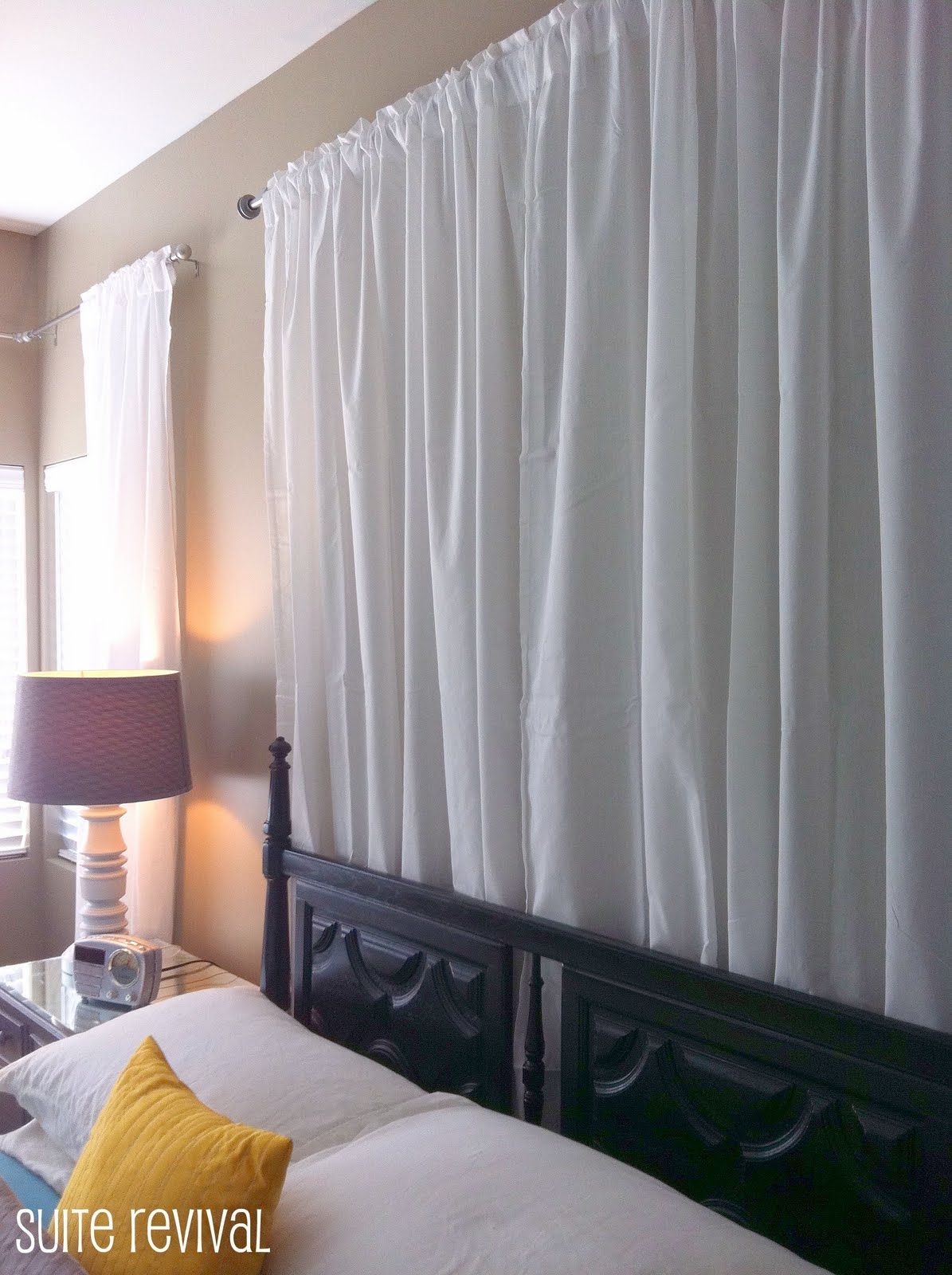 Curtain Headboard An Inexpensive Duvet Cover Or Shower Is Good For Fun Patterns A Set Of Queen King Sheets Excellent Choice If