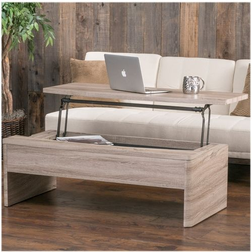 Noble House Orangeburg Faux Wood Lift Functional Coffee Table Dark Sonoma In 2020 Coffee Table With Storage Sofa End Tables Lift Top Coffee Table