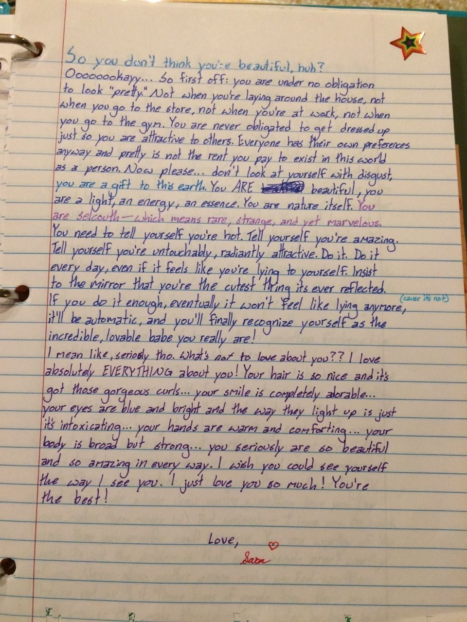 Open When You Don T Feel Beautiful Letter To Best Friend Open When Letters For Boyfriend Letters To Boyfriend