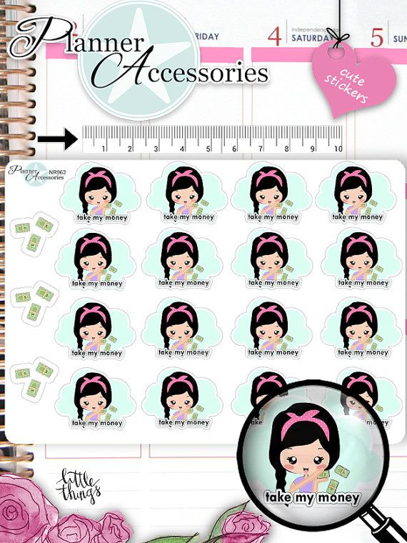 Take My Money Stickers Money Stickers von EmelysPlannerShop auf Etsy
