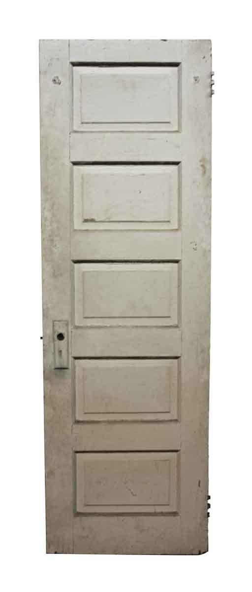 Antique 5 Panel Wood Door 73 75 X 24 Wood Doors Old Wood Doors Wood Doors Interior