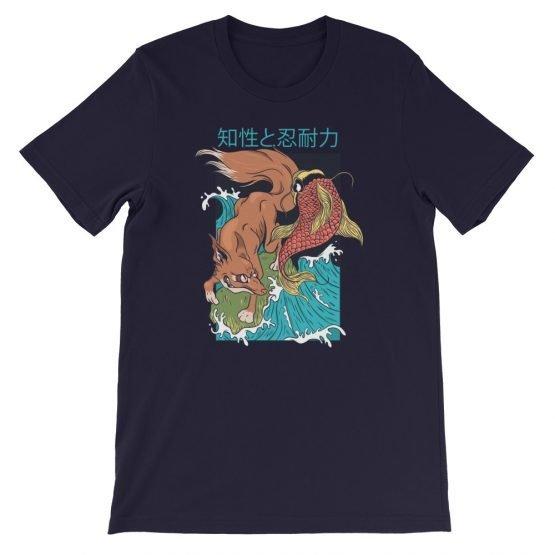 Fox Fish Japanese Style T Shirt Art Style Illustration Trentain Shirt Designs Japanese Art Styles Shirts