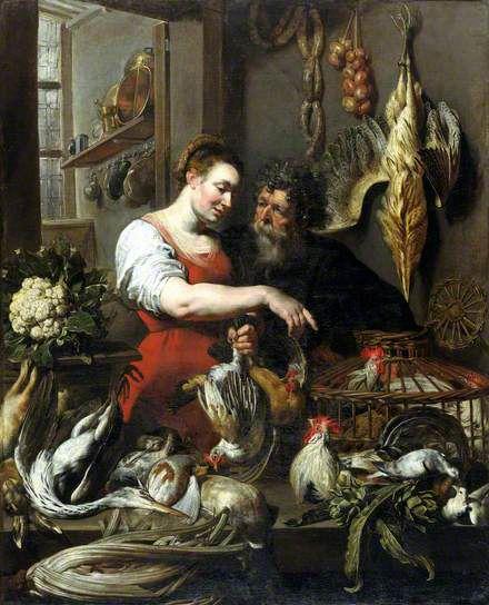 the poulterer's shop. frans snyders, 1612-1615.