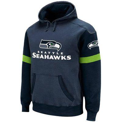 Reebok Seattle Seahawks Youth Steel Blue Navy Blue QB Jersey