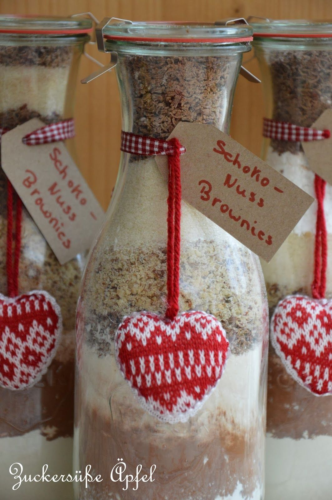 Schoko-Nuss-Brownies | Geschenke aus der Küche | Pinterest ...