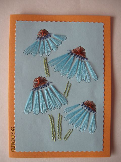 Flowers String Art Pinterest Paper Embroidery String Art And