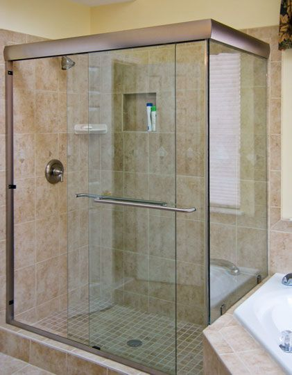 Semi Frameless Shower Enclosures framless shower doors | why semi-frameless sliding glass shower