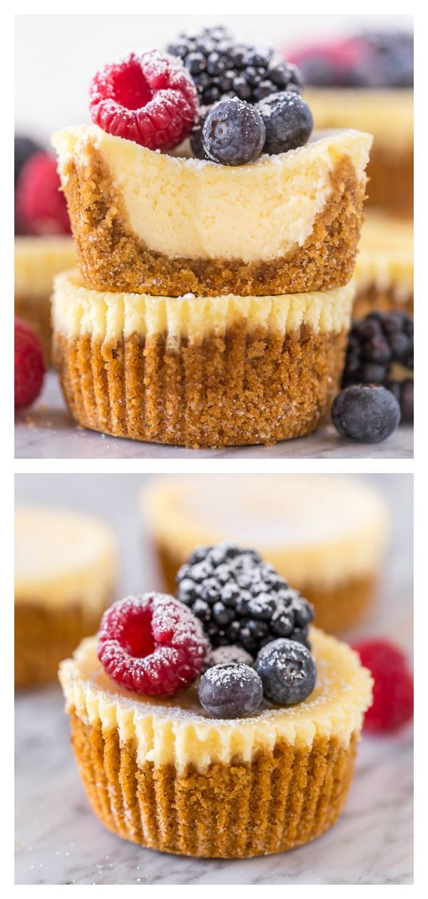 Mini Ricotta Cheesecakes #cheesecakes