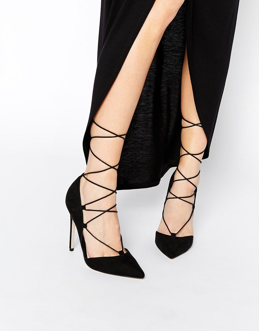 Buy Women Shoes / Asos Pilot Lace Up Pointed High Heels