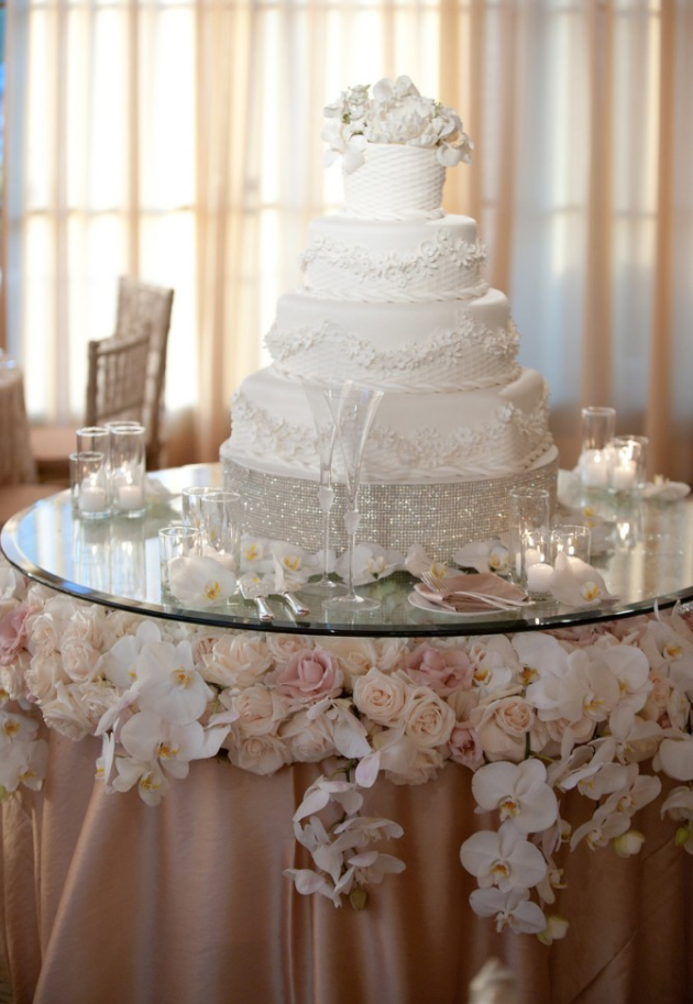 Floral Cake Table Wedding Cake Table Decorations Wedding Cake Table Cake Table Decorations