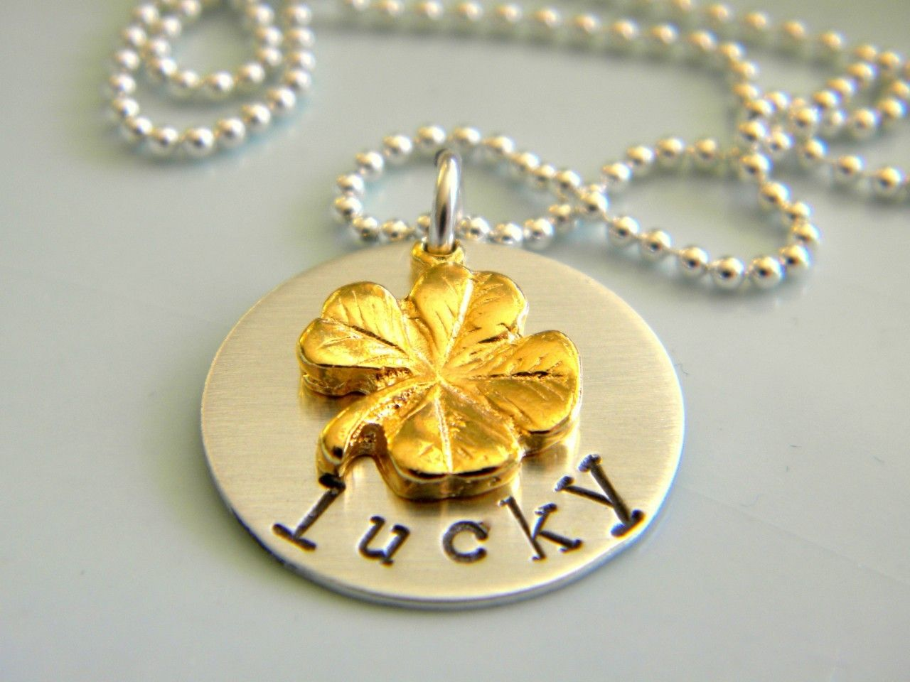 {simple starfish} jewelry - lucky clover necklace, $48.00 (http://www.simplestarfish.com/lucky-clover-necklace/)