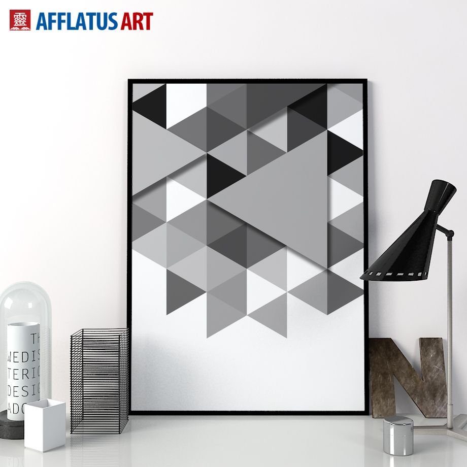 Afflatus canvas painting nordic geometry wall art painting canvas