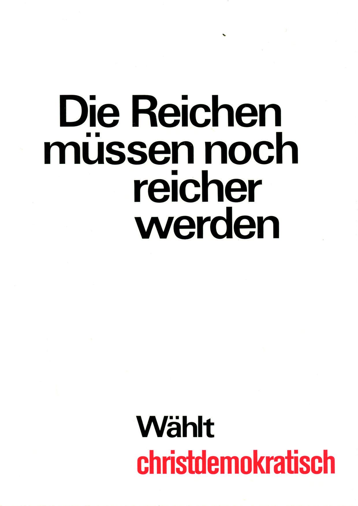 Klaus Staeck Die Reichen muessen noch reicher werden 1972